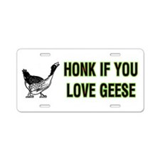 Goose Gifts Aluminum License Plate