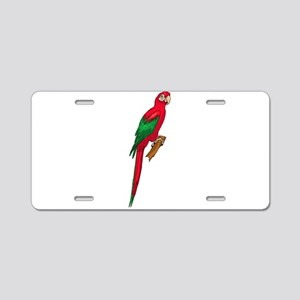 Green-Winged Macaw Aluminum License Plate