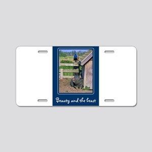 Beauty & The Beast Aluminum License Plate
