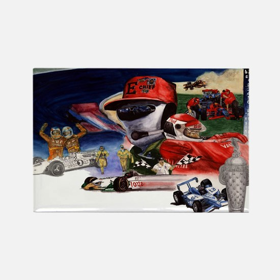 Indy Cars Rectangle Magnet