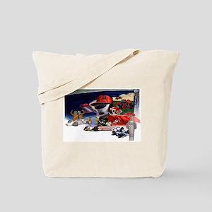 Indy Cars Tote Bag