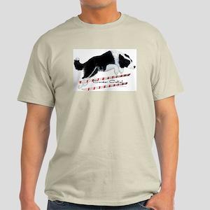 Border Collie Jump Ash Grey T-Shirt