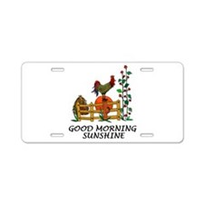 Good Morning Sunshine Aluminum License Plate