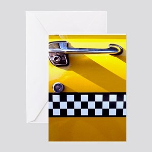 Checker Cab No. 8 Greeting Card