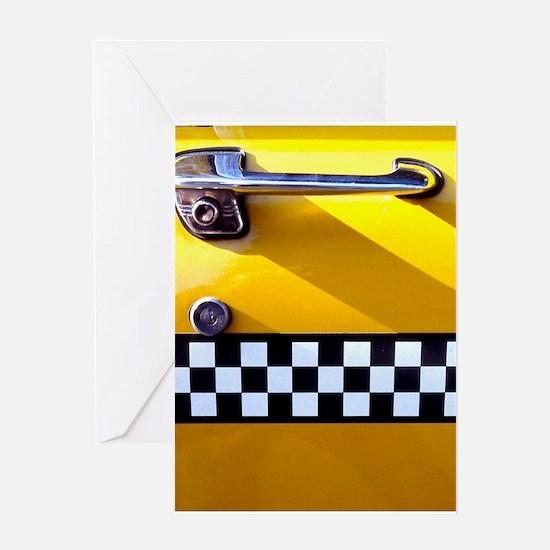 Checker Cab No. 8 Greeting Card