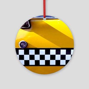 Checker Cab No. 8 Ornament (Round)