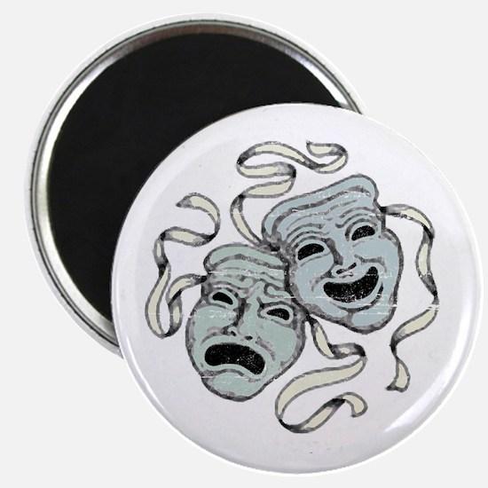 """Vintage Comedy Tragedy Mask 2.25"""" Magnet (10 pack)"""
