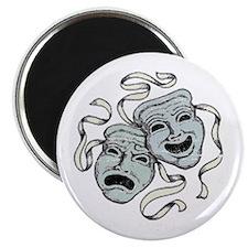 Vintage Comedy Tragedy Mask Magnet