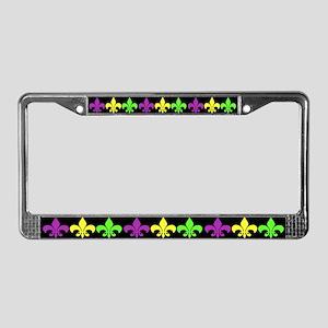3 Fleur de Lis License Plate Frame