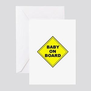 """""""Baby On Board"""" Greeting Cards (Pk of 10)"""