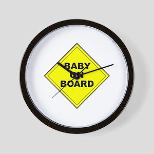 """Baby On Board"" Wall Clock"
