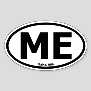 Maine Oval Sticker