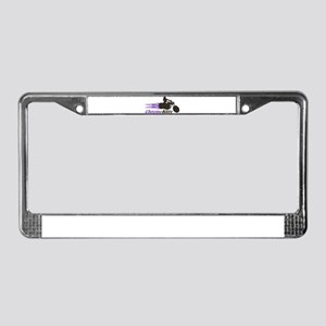 Biker Girl License Plate Frame
