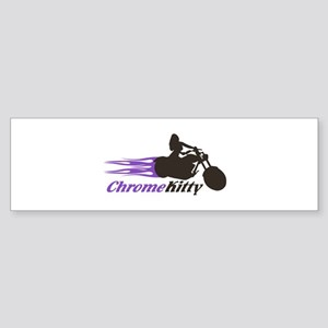 Biker Girl Bumper Sticker