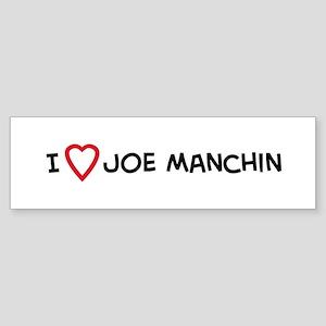 I Love Joe Manchin Bumper Sticker