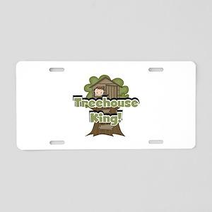 Treehouse King Aluminum License Plate