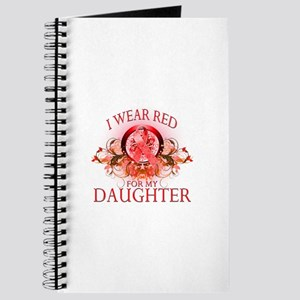 I Wear Red For My Daughter (floral) Journal