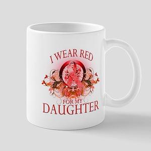 I Wear Red For My Daughter (floral) Mug