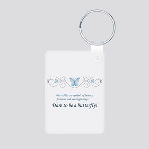 Butterfly Challenge Aluminum Photo Keychain
