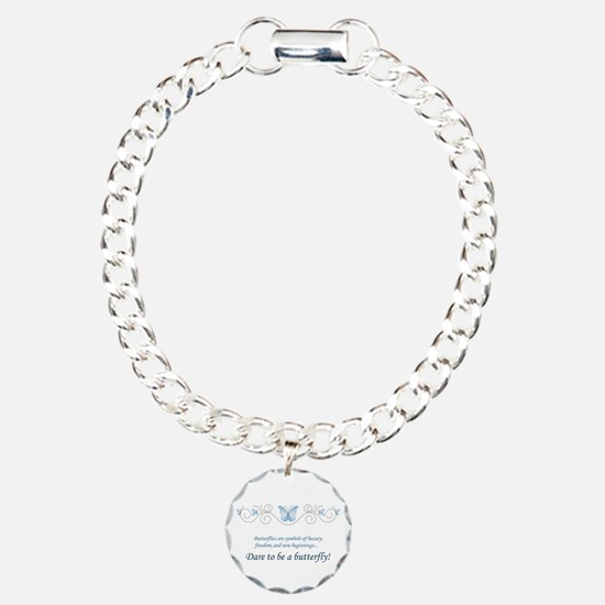 Butterfly Challenge Charm Bracelet, One Charm