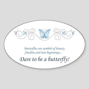 Butterfly Challenge Sticker (Oval)