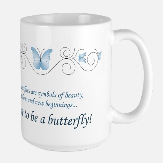 Butterfly Challenge Large Mug