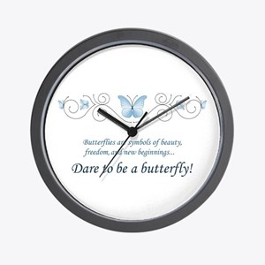 Butterfly Challenge Wall Clock
