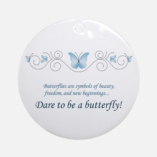 Butterfly Challenge Ornament (Round)