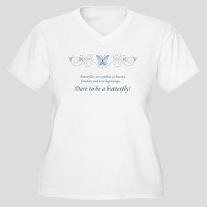 ce279a9c728ef Blue Butterfly Women s Plus Size T-Shirts - CafePress