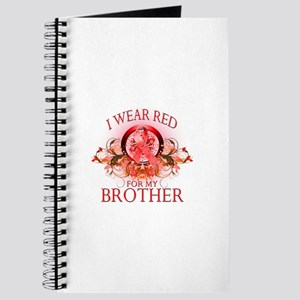 I Wear Red For My Brother (floral) Journal