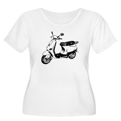 Vespa Scooter Women's Plus Size Scoop Neck T-Shirt
