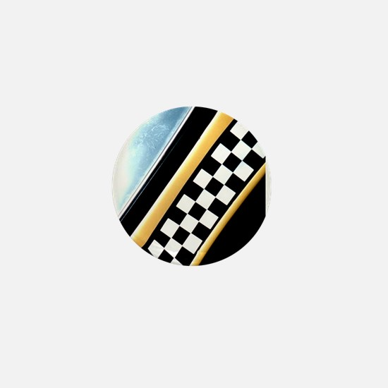 Checker Cab No. 7 Mini Button