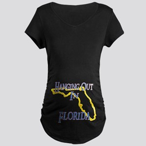 Hanging Out in FL Maternity Dark T-Shirt