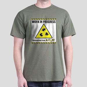 Work in Progress - Autism Recovery Dark T-Shirt
