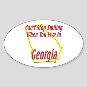 Can't Stop Smiling in GA Sticker (Oval)