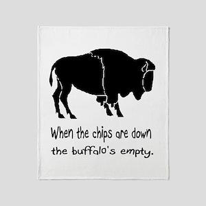 Buffalo Chips Throw Blanket
