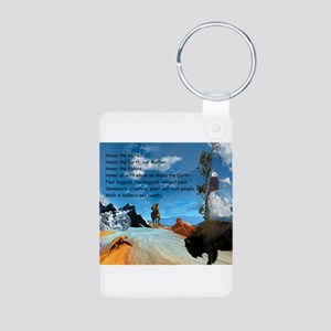 Honor Prayer Aluminum Photo Keychain