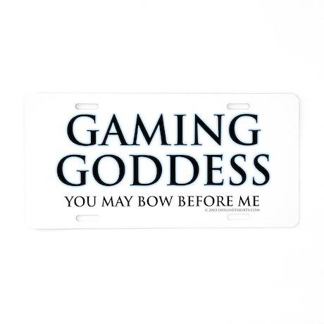 Gaming Goddess Aluminum License Plate