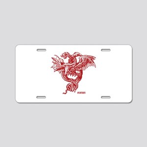 Winged Monster Fight Aluminum License Plate