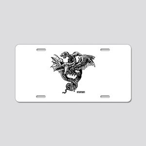 Mythical Creatures Fight Aluminum License Plate
