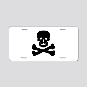 Skull n Crossed Bones Aluminum License Plate