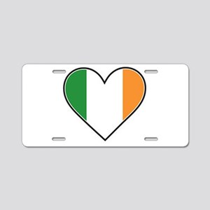 Irish Heart Flag Aluminum License Plate