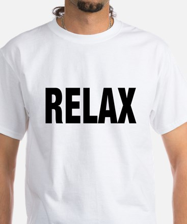 Frankie Says RELAX Retro 80s White T-Shirt