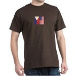 Philippine Flag & US Flag v2 Dark T-Shirt