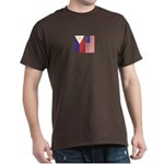 Philippine Flag & US Flag v2 Dark T-Shirt