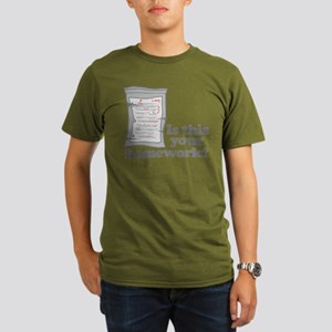 Your Homework Larry Organic Men's T-Shirt (dark)