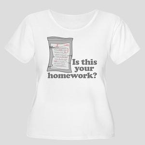 Your Homework Larry Women's Plus Size Scoop Neck T