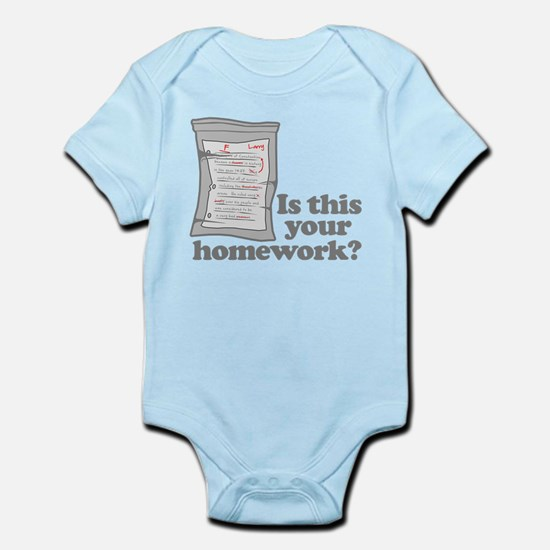 Your Homework Larry Infant Bodysuit