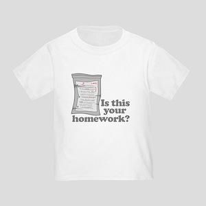 Your Homework Larry Toddler T-Shirt
