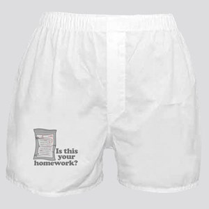 Your Homework Larry Boxer Shorts